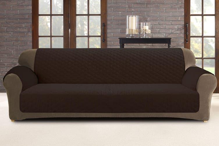 Custom Fit 3 Seater Sofa Protector - Coffee