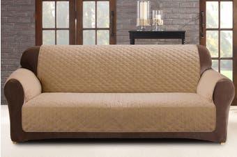 Custom Fit 2 Seater Sofa Protector - Flax