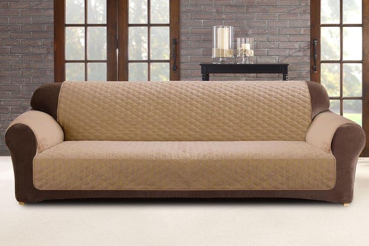 Custom Fit 3 Seater Sofa Protector - Flax