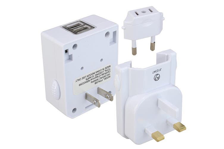 Jackson 1 Outlet Worldwide Travel Adapter with 2 x USB Outlets (PTAUSB)
