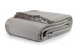 Jason Australian Wool Blanket (Silver, Queen Bed/King Bed)