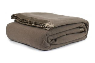 Jason Australian Wool Blanket (Taupe, Queen Bed/King Bed)