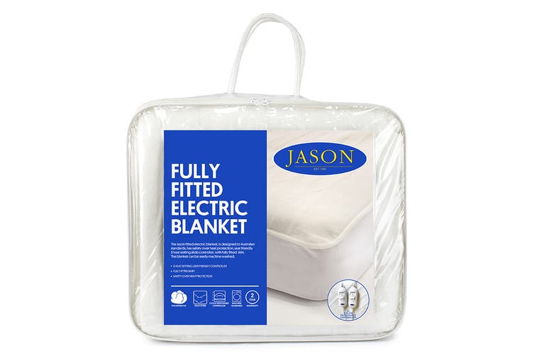Jason Fully Fitted Machine Washable Electric Blanket (Queen)