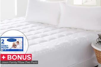 Jason Anti-Bacterial Mattress Topper with BONUS Pillow Pack
