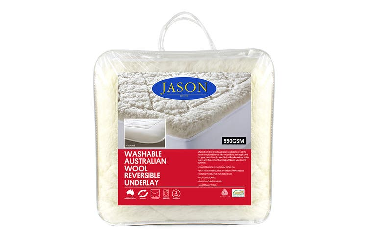 Jason 550GSM Australian Wool Reversible Underlay (Double)