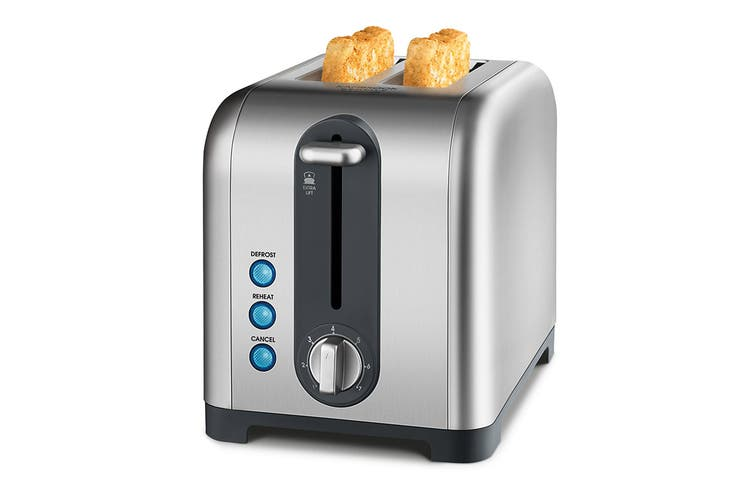 Kambrook Extra Lift 2 Slice Stainless Steel Toaster - Stainless Steel (KT260)