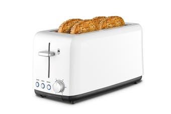 Kambrook Perfect Fit Wide Slot 4 Slice Toaster - White (KTA140WHT)