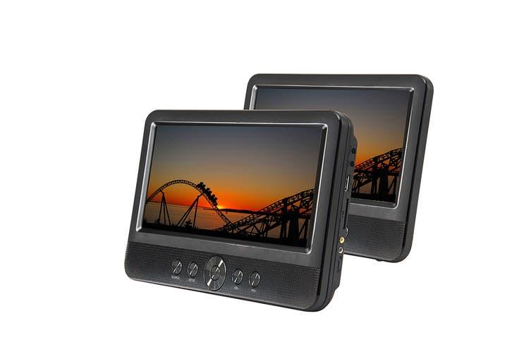 "10"" Twin Screen In-Car Portable DVD Player (PDVD1030)"
