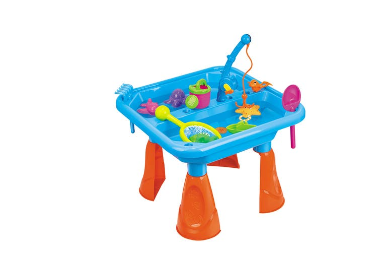 17 Piece Kids Sand & Fishing Table