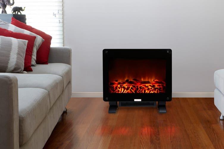 Lenoxx 1500W Electric Log Fire Heater