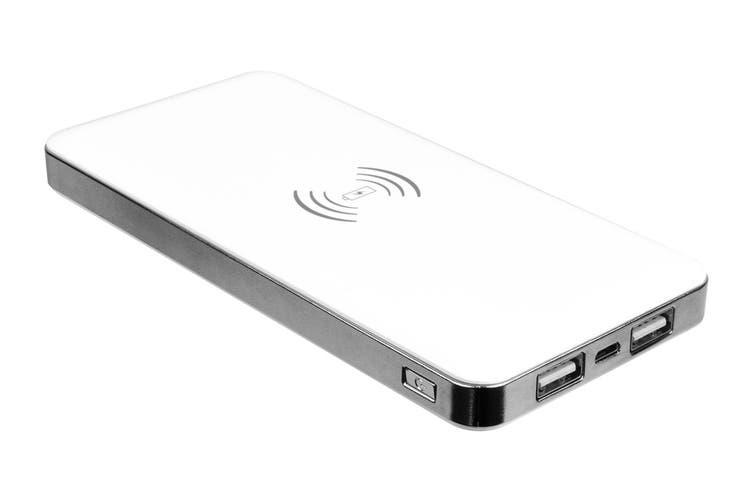Laser 6000mah Power Bank Qi Wireless Charging