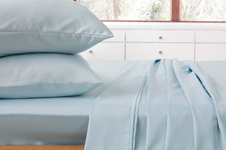 Ardor 1000TC Luxury Sheet Set (Queen, Pale Blue)