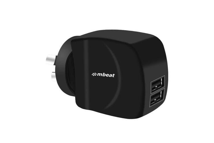 mbeat Gorilla Power Duo 3.4A Dual Port USB Smart Charger (MB-CHGR-DP2)