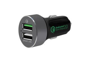 mbeat QuickBoost Dual Port Quick Charge 2.0 & Smart USB Car Charger (MB-CHGR-QBS)