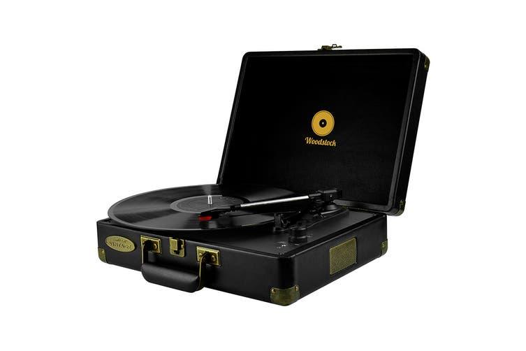 mbeat Woodstock Retro Turntable - Black (MB-TR89BLK)