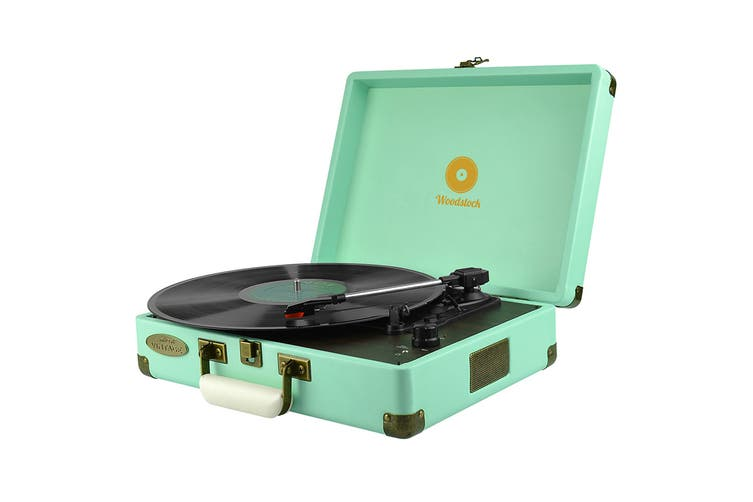 mbeat Woodstock Retro Turntable - Tiffany Blue (MB-TR89TBL)