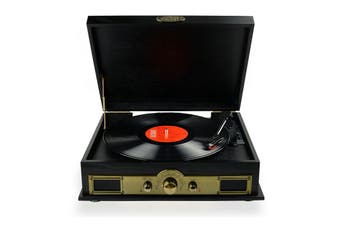 mbeat Vintage Wood Turntable with Bluetooth and AM/FM (MB-USBTR98)