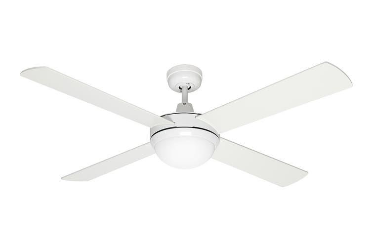 Mercator Grange 1300mm Ceiling Fan with Light - White (FC032134WH)