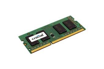 Crucial 4GB DDR3L 1600 MT/s (PC3L-12800) CL11 SODIMM 204pin 1.35V/1.5V Single Ranked