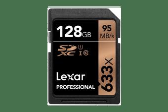 Lexar 128GB Professional SDHC/SDXC Card (633x)