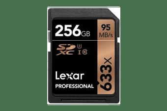 Lexar 256GB Professional SDHC/SDXC Card (633x)