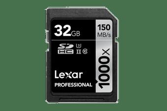 Lexar 32GB Professional SDHC/SDXC UHS-II Card (1000x)