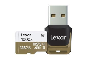Lexar 128GB Professional MicroSDHC/MicroSDXC UHS-II Card (1000x)