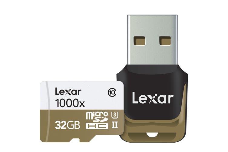 Lexar 32GB Professional MicroSDHC/MicroSDXC UHS-II Card (1000x)
