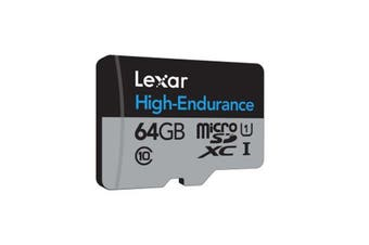 Lexar 64GB High-Endurance microSDHC/microSDXC UHS-I card