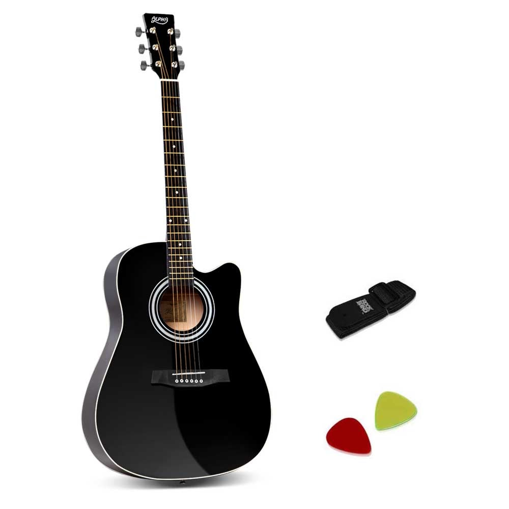 41 SteelStringed Acoustic Guitar (Black)