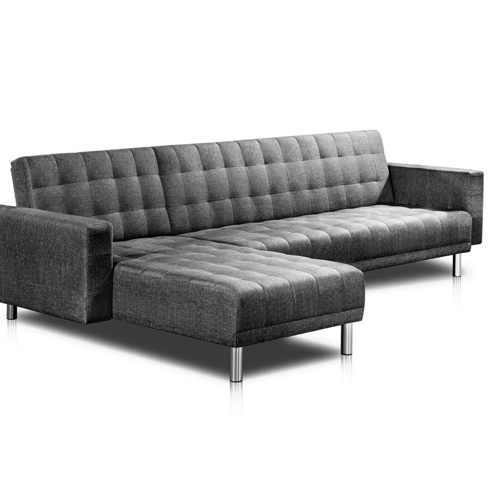 Kogan faux linen sofa bed 5 seater compare club for Affordable furniture 290