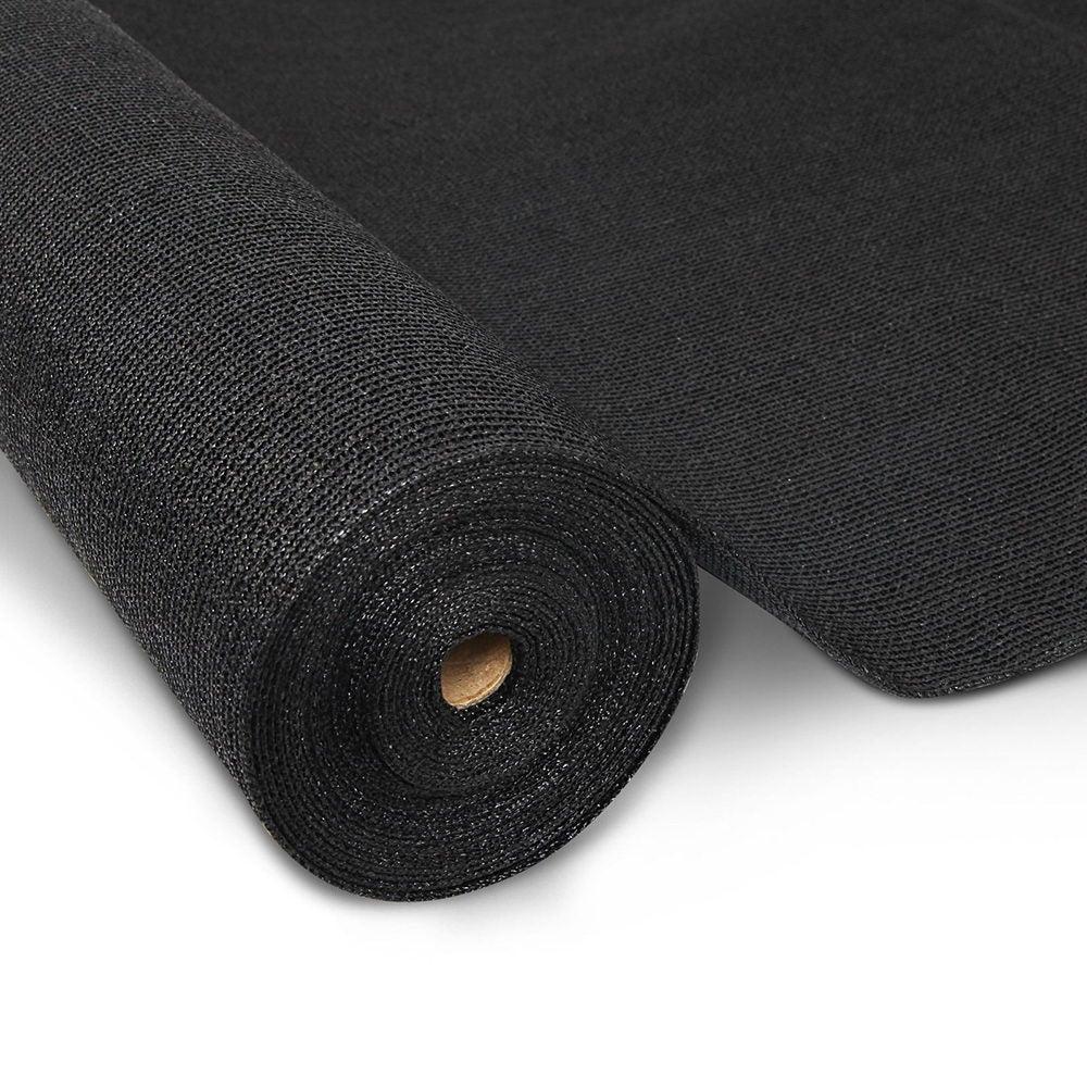 10M 90% Shade Cloth Roll -3.66M x 10M (Black)