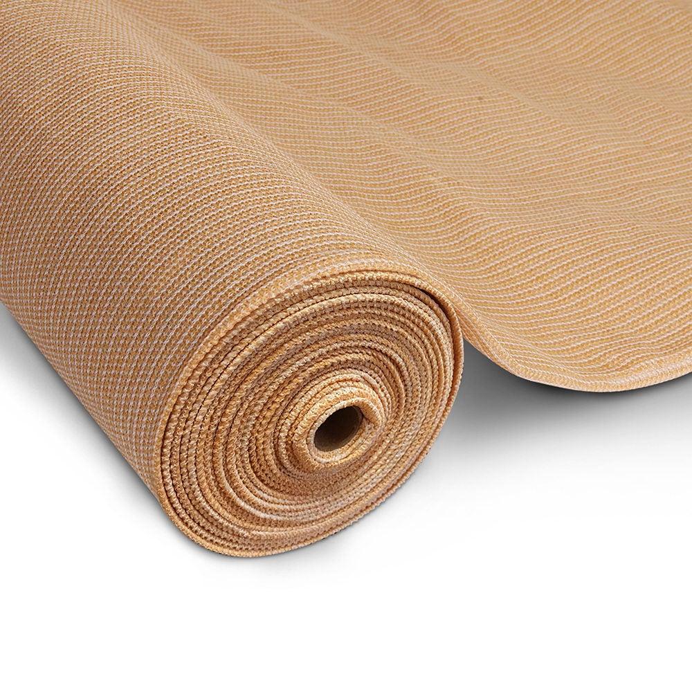 20M 90% Shade Cloth Roll -3.66M x 20M (Sandstone)