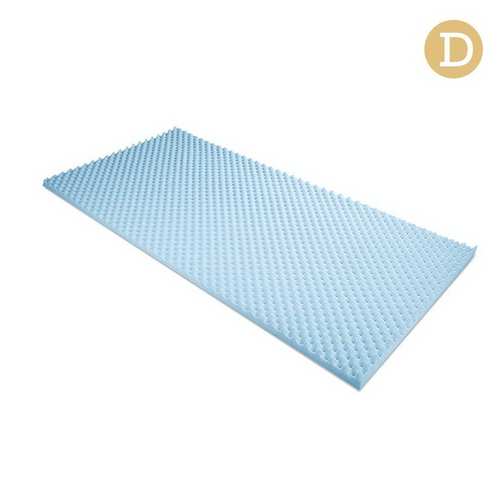 Gel Infused Egg Crate Mattress Topper (Double)