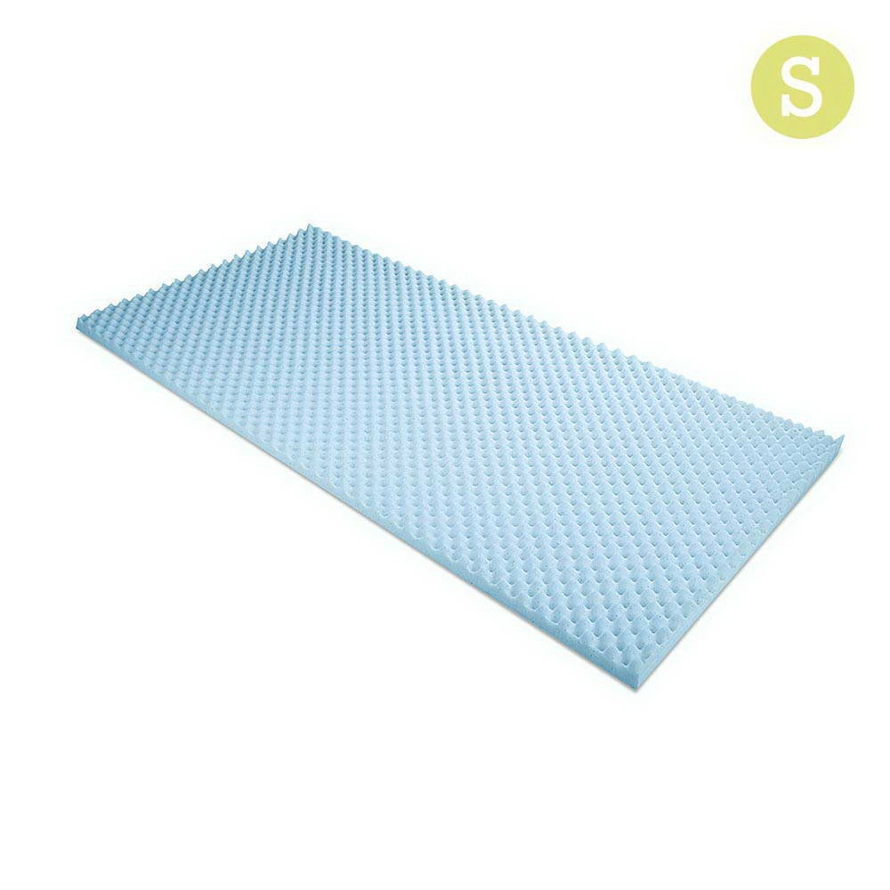 Gel Infused Egg Crate Mattress Topper (Single)