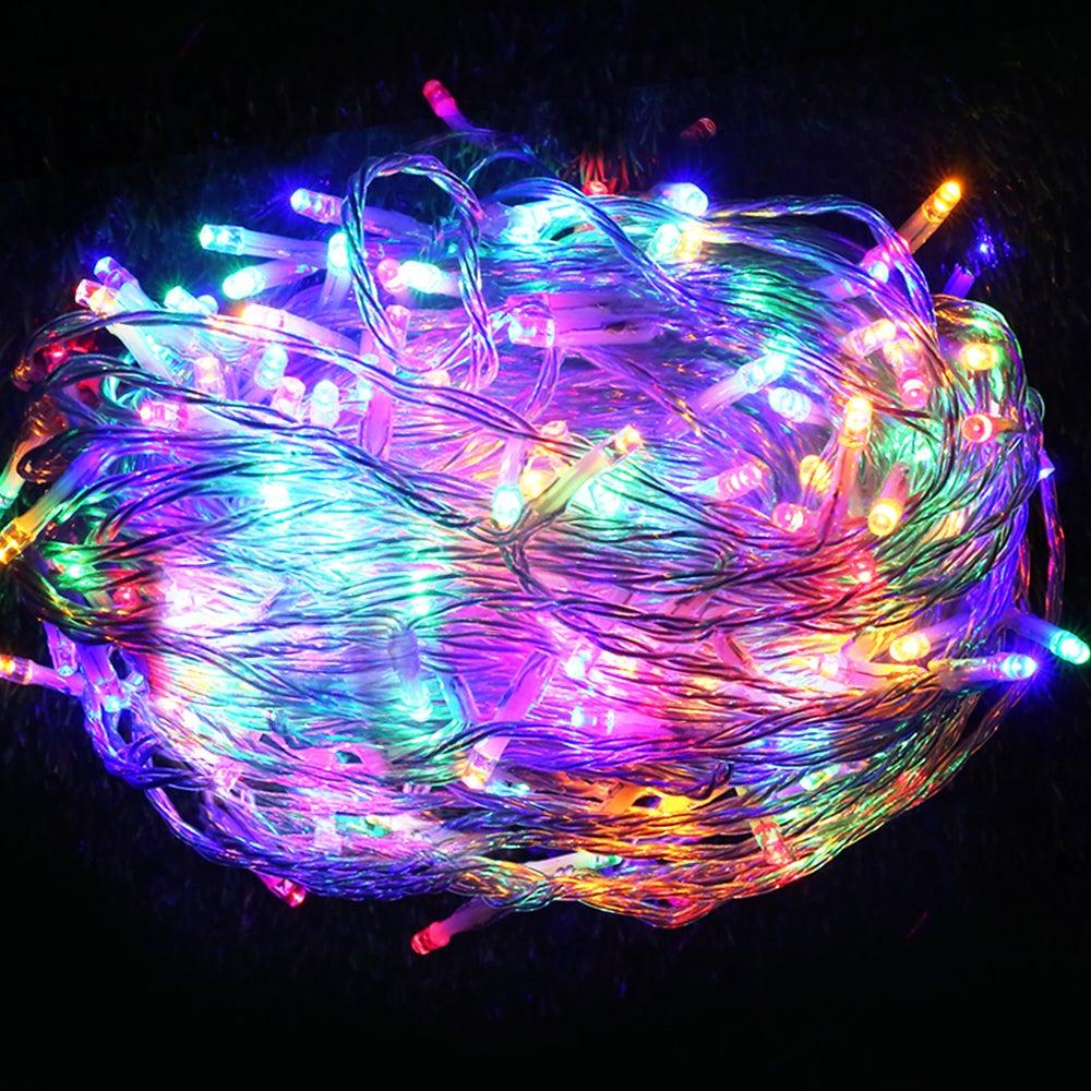 Kogan 50m Christmas LED String Lights (250 Globe/Multicoloured) - Compare Club