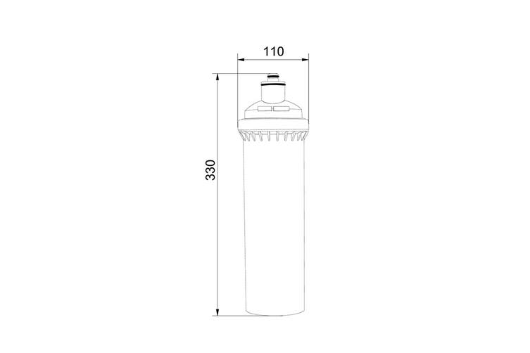 Oliveri Inline Water Filtration Replacement Cartridge For Harsh Water Use (FR5950)