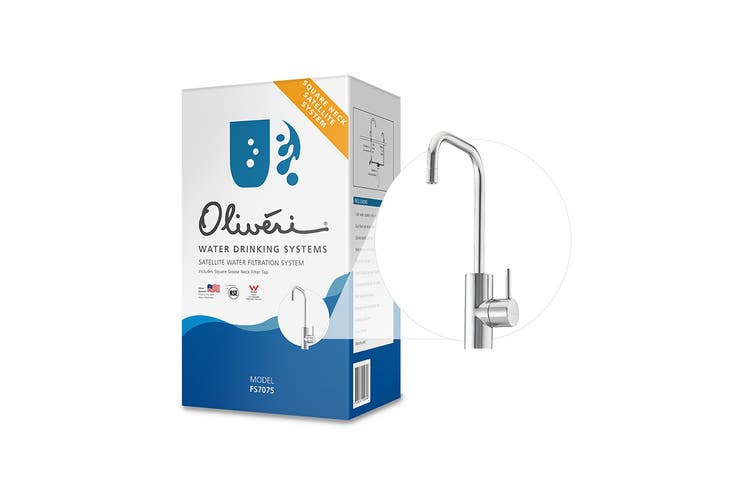 Oliveri Satellite Water Filtration System With Square Goose Neck Filter Tap (FS7075)