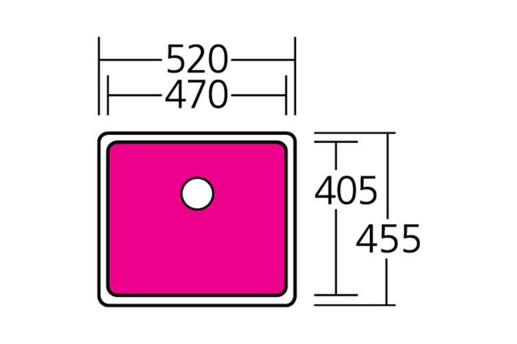 Oliveri Sonetto Large Bowl Undermount Sink (SN1050U)