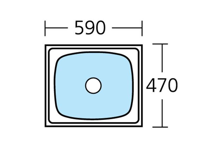 Oliveri Laundry 45L Tub (TI45)