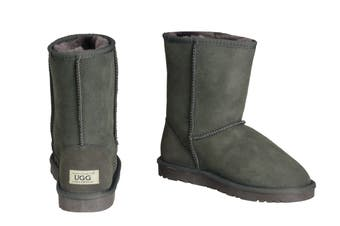 OZWEAR Connection Classic 3/4 Ugg Boots (Charcoal, Size 5M/6W US)