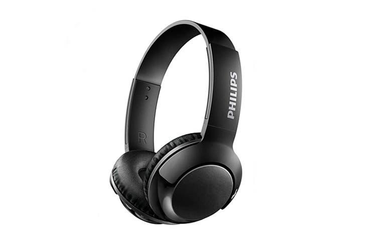 Philips BASS+ On-Ear Bluetooth Headphones (SHB3075BK)