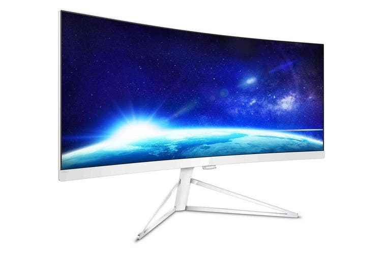 """Philips 34"""" UWQHD 3440x1440 Ultra-Wide Curved Monitor with FreeSync (349X7FJEW)"""
