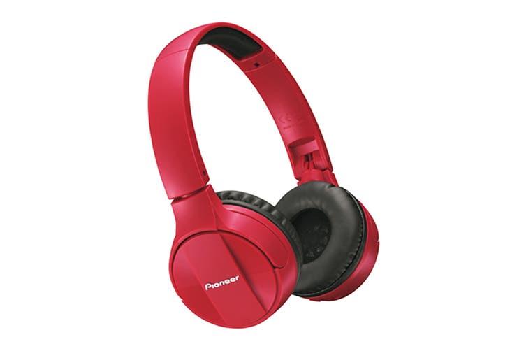 Pioneer Bluetooth On-ear Headphones - Red (SEMJ553BTR)