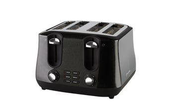 Russell Hobbs Siena Black Diamonds 4 Slice Toaster (RHT44BLK)