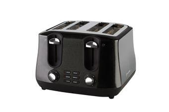 Russell Hobbs Siena Black Diamonds 4 Slice Toaster (RHT44BLK)