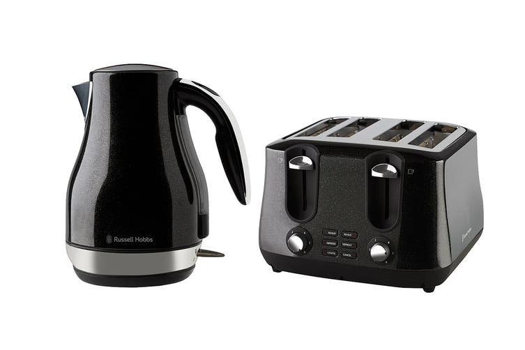 Russell Hobbs Siena Breakfast Pack with Toaster & Kettle (RHK42BLK RHT44BLK)