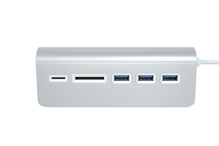 Satechi 3-Port USB 3.0 Hub + Card Reader (Silver)