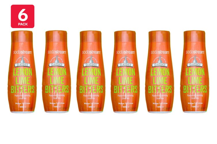 SodaStream Classic Lemon Lime and Bitters (6 Pack)