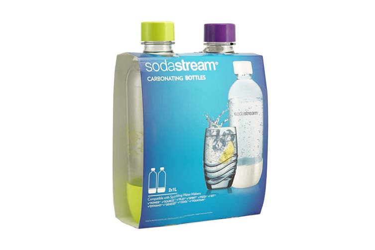 SodaStream Twin Pack 1L Carbonating Bottles (Summer Edition)